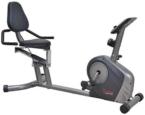 Sunny Health & Fitness SF-RB4602 Heavy Duty Recumbent Bike w/ Extra Capacity