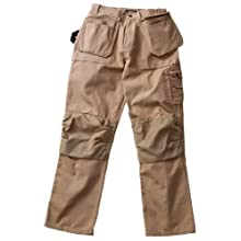 Blaklader Workwear Bantam Pant with Utility Pockets, 42-Inch Waist, 32-Inch Length, 8-Ounce Cotton - Khaki