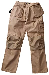Blaklader Workwear Bantam Pant with Utility Pockets, 38-Inch Waist, 30-Inch Length, 8-Ounce Cotton - Khaki