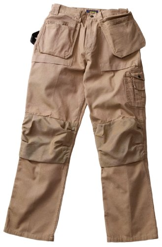 Blaklader Workwear Bantam Pant with Utility Pockets, 30-Inch Waist, 30-Inch Length, 8-Ounce Cotton - Khaki