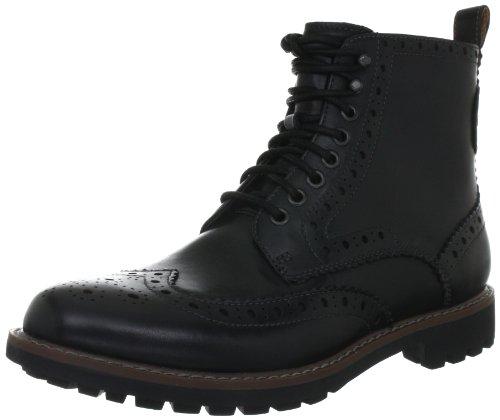 [クラークス] Clarks Montacute Lord  20351091 Black Leather(Black Leather/8)