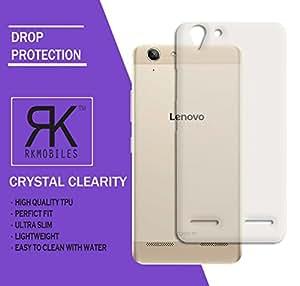 RKMOBILES Soft Jel Ultra Thin 0.3mm Clear Jel TPU Back Case Cover For Lenovo Vibe K5 (Transparent)