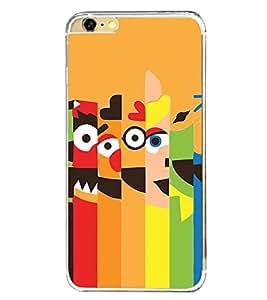 Cartoon Faces 2D Hard Polycarbonate Designer Back Case Cover for Apple iPhone 6 Plus :: Apple iPhone 6+