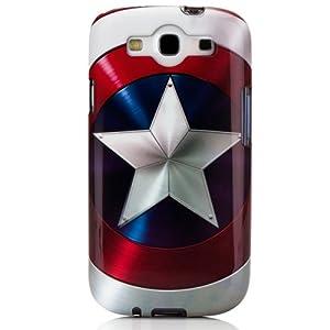 Disney IP1857 - Carcasa rígida de PVC para Samsung Galaxy S3, diseño del escudo del Capitán América, color blanco - Electrónica Revisión del cliente