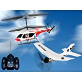 Megatech Ultimate Radio Control Airplane & Helicopter Combo Pack #MTC9535