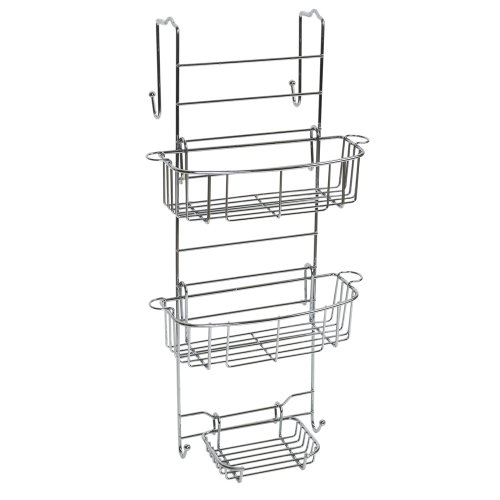 Zenith Products E7803Stbb Over The Shower Or Tub Door Caddy, Stainless Steel front-1027647