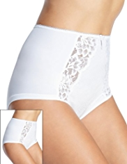 2 Pack Per Una High Rise Jasmine Lace Full Briefs
