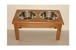 Traditional Style Medium Dog Diner (Natural)