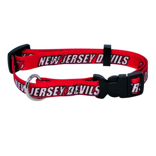 Nhl New Jersey Devils Adjustable Pet Collar, Team Color, Small front-848790