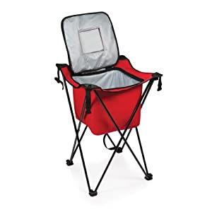 Picnic Time Sidekick Portable Cooler with Legs, Red