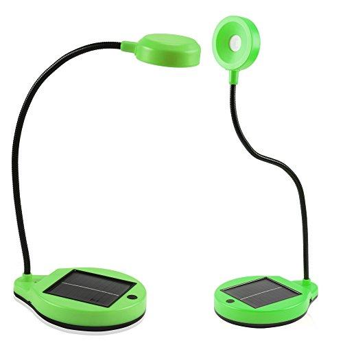 Sidiou Group USB luce della lampada di energia solare flessibile Desktop lettura regalo Lampade ricaricabili banca di potere o di casa Creative Lighting Lampada (verde)