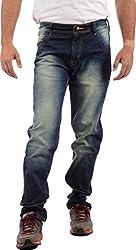 SagarPriya Men's Slim Fit Jeans (SP0001, Blue, 30)