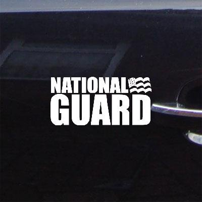 Notebook White Home Decor Sticker Auto Wall Art Die Cut Macbook Car Adhesive Vinyl Window Laptop National Guard Us Army Decoration (Army National Guard Window Decals compare prices)
