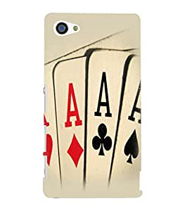 printtech Cards Aces Back Case Cover for Sony Xperia Z5 Compact::Sony Xperia Z5 Mini