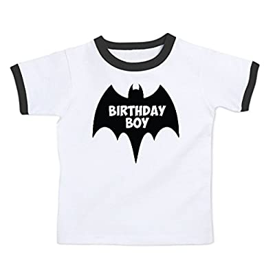 We Match! Birthday Boy Bat Superhero Super Hero Toddler & Kids Ringer T-Shirt