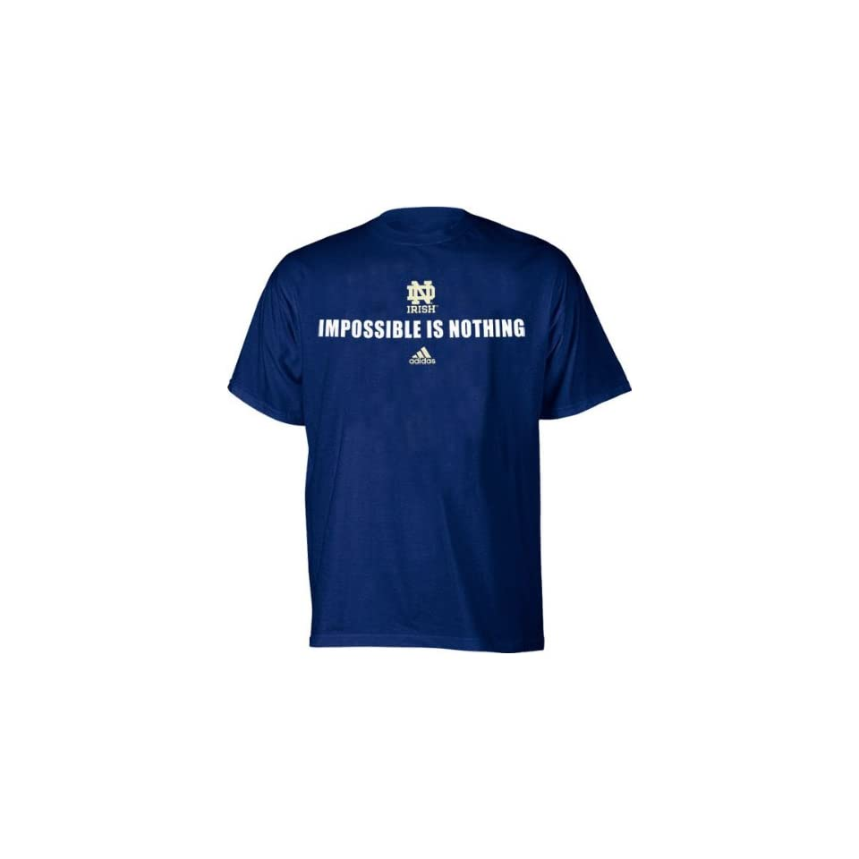 Notre Dame Fighting Irish T Shirt adidas Impossible is