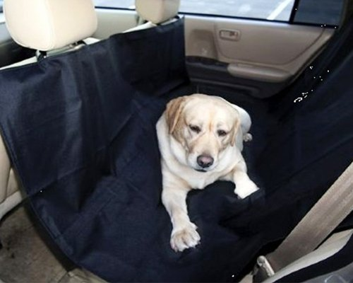 Deluxe Series Pets Dog Travel Car Back Seat Pet Hammock Seat Cover, Large, Black front-118265