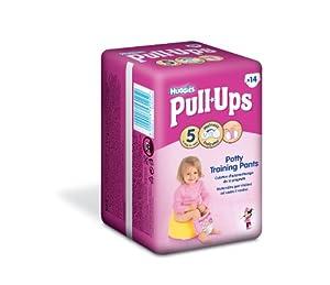 Huggies Pull-Ups Disney Princess Design Size 5 (24-50 lbs/11-22 kg) Nappies - 6 x Packs of 14 (84 Pants)