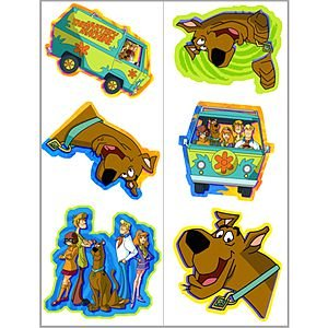 Scooby-Doo Mod Mystery Tattoos Party Accessory