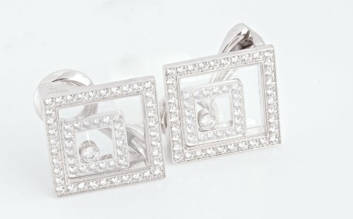 CHOPARD 18K White Gold and Diamond HAPPY SPIRIT