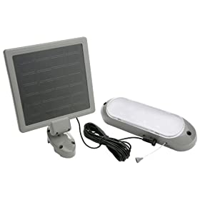Designers Edge L949 10-LED Rechargeable Solar-Panel Shed Light