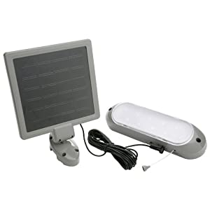Click to buy LED Outdoor Lighting: Designers Edge 10 LED Rechargeable Solar Panel Shed Light from Amazon!
