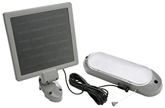 Designers Edge L949 10-LED Rechargeable Solar-Panel Security Light