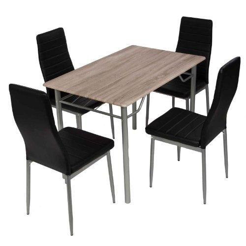 Esstischgruppe-Tischgruppe-Sitzgruppe-mit-4-Sthlen-und-Esstisch-110x70-cm