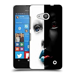 Snoogg Black And White Face Designer Protective Phone Back Case Cover For Nokia Lumia 550