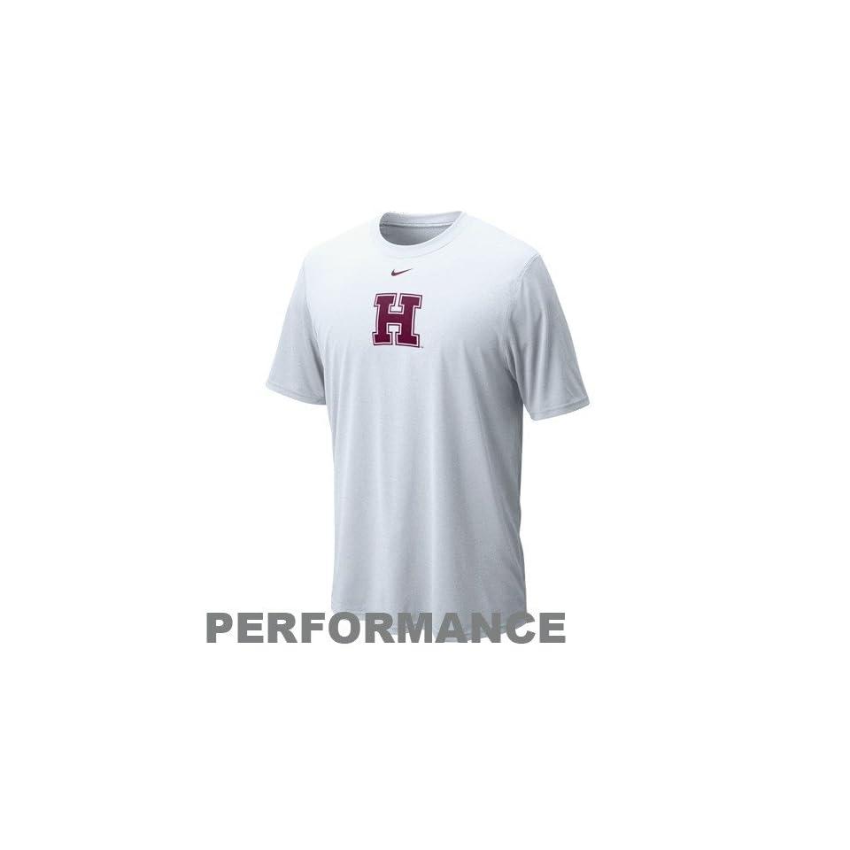 4e7373b27a62 Nike Harvard Crimson White Legend Logo Performance T shirt on PopScreen