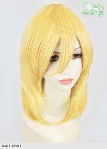 スキップウィッグ 魅せる シャープ 小顔に特化したコスプレアレンジウィッグ フェザーミディ レモンキャンディ