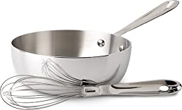 All Clad Stainless-2 Qt. Saucier W/whisk-no Lid