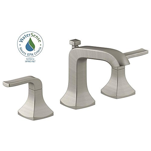 KOHLER K-R76216-4D-BN Rubicon Widespread Bathroom Sink Lavatory Faucet, Vibrant Brushed Nickel (Kohler Bathroom Faucet Nickel compare prices)