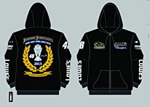 Jimmie Johnson 2013 6-Time Champion Screen Print Zip-Up Hooded Sweatshirt 4X by J.H. Design
