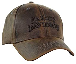 Harley-Davidson Regal Brown Stone Washed Baseball Cap Motorcycle Hat BC111439 Size one size