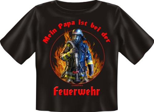 Baby-Shirt Grössen S-M-L Papa ist bei der Feuerwehr
