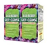 ACAI BERRY Easy Cleanse Formula - Detoxify & Reduce Bloating - 40 Tablets (Pack of 2)