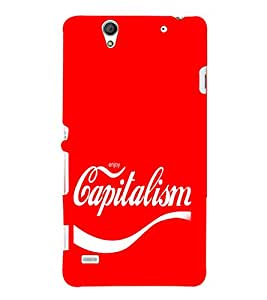 EPICCASE Capitalism Mobile Back Case Cover For Sony Xperia C4 (Designer Case)