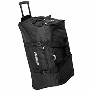 Borderline Extra Large 30 Inch Wheeled Holdall Bag (Black)