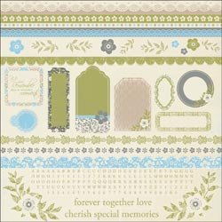 New - Blae & Ivy Cardstock Stickers 12X12 by Kaisercraft