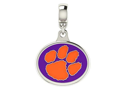 Clemson Tigers Drop Charm Fits All European Style Beaded Charm Bracelets