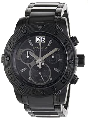 Invicta Men's 0762 Reserve Collection Chronograph Black Ion-Plated Stainless Steel Watch