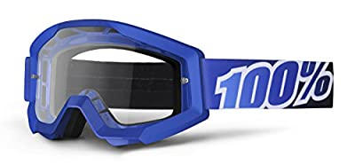 100% Strata MX Goggles , Primary Color: Blue, Distinct Name: Blue Lagoon/Clear Lens, Gender: Mens/Unisex 50400-002-02