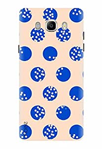 Noise Designer Printed Case / Cover for Samsung Galaxy J7 - 6 (New 2016 Edition) / Patterns & Ethnic / Blue Polka Dots Of Life Design