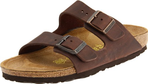Birkenstock Unisex Arizona Sandal,Habana Oiled Leather,43 N EU