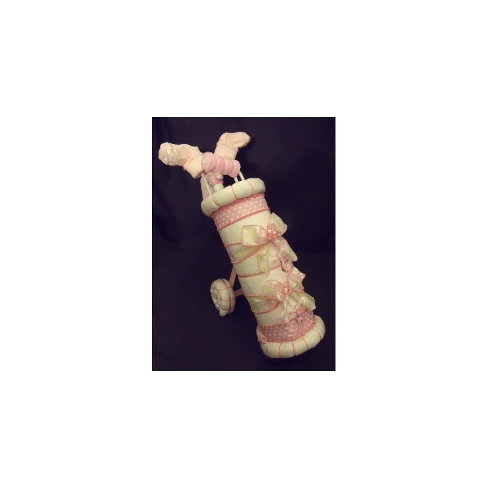 Golf Bag Diaper Cake Baby Shower Gift Centerpiece Everything Else