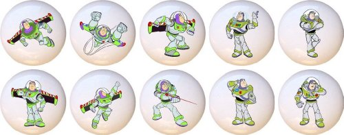 Buzz Lightyear Toy Story Drawer Pulls Knobs Set of 10