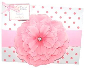 Mud Pie Baby Buds Large Flower Headband, Pink