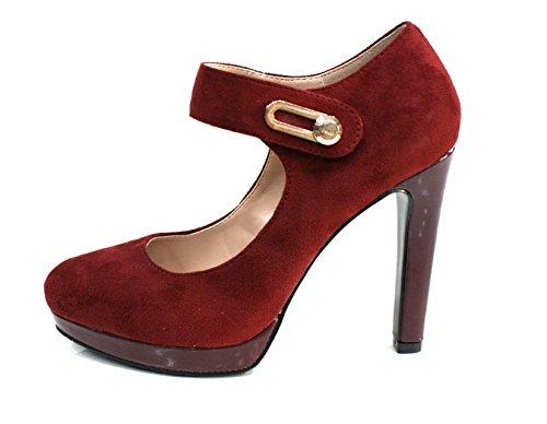 Gaudi Decollete Donna Bali Tacco Cm 11 Suede Burgundy_37