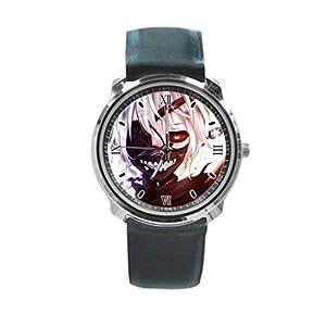 Queen Ali Custom Tokyo Ghoul Kaneki Ken Kakuja Men's and Women's Sport Watches Business Watch With Leather Band